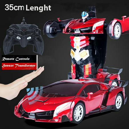 Smarten Kids Toy Transformer Sensor & Remote Control Robot Car -RED (NEW - Electronic Remote Transformer