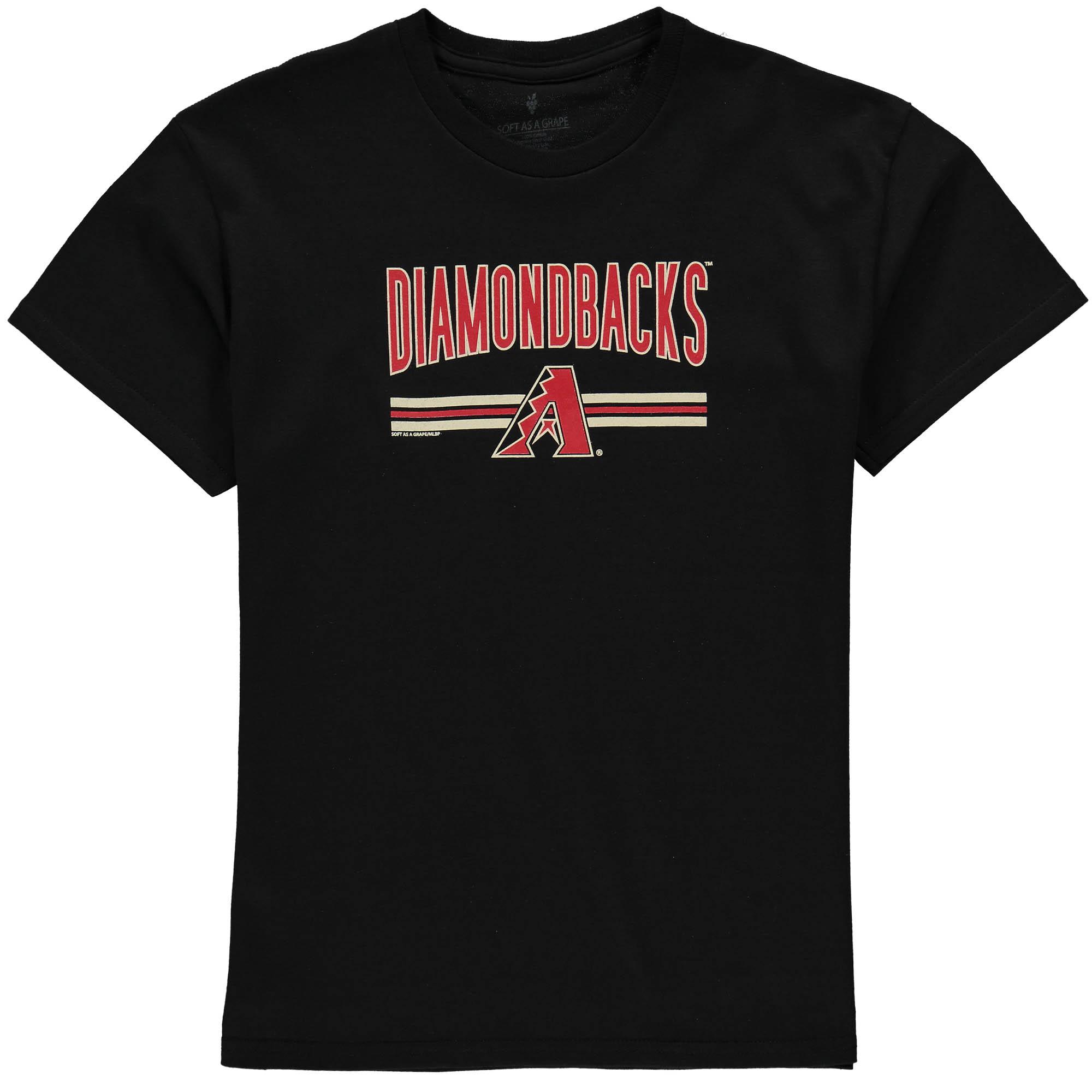 Arizona Diamondbacks Soft as a Grape Youth On Base Crew T-Shirt - Black