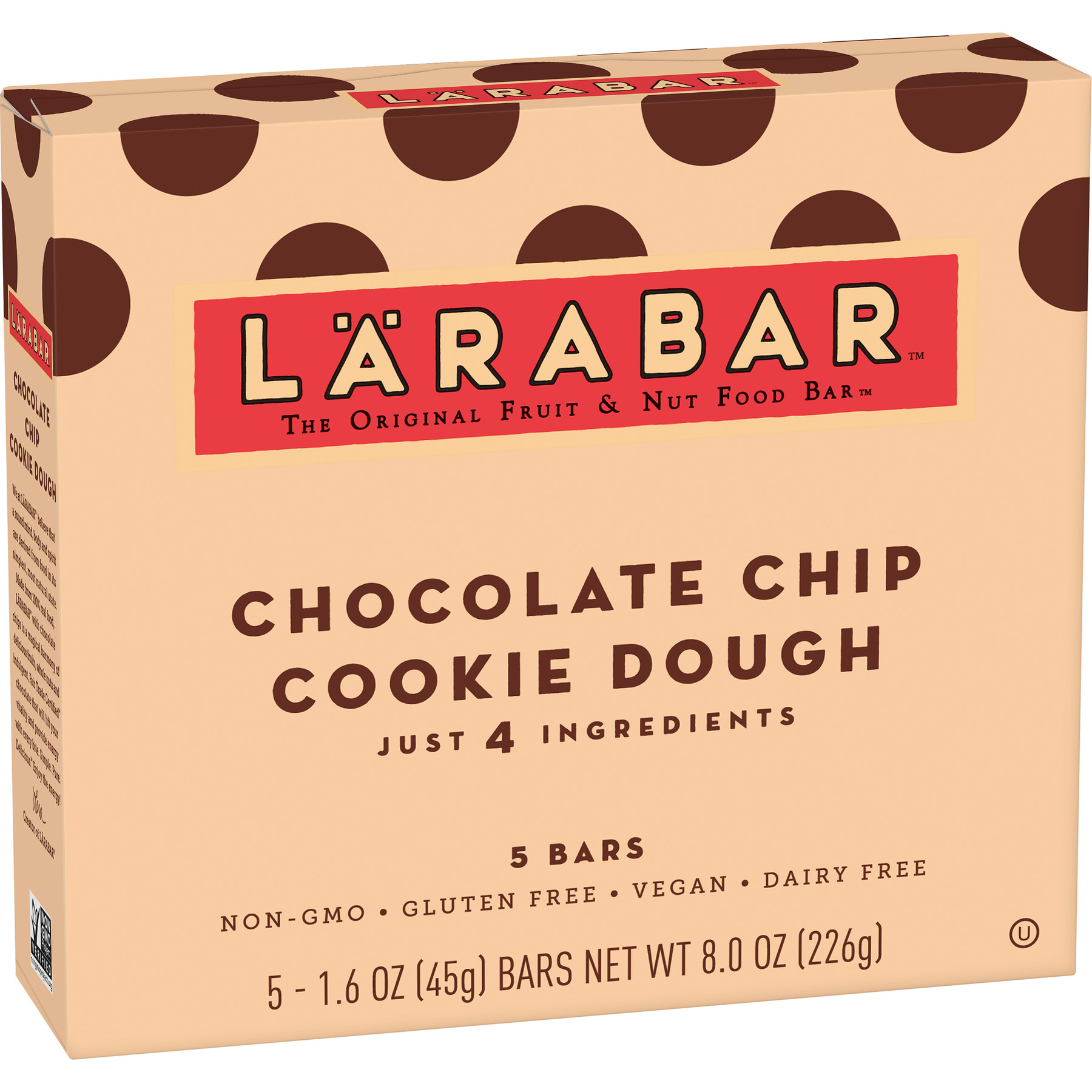 (4 Pack) Larabar Gluten Free Bar Chocolate Chip Cookie Dough 1.6 oz Bars