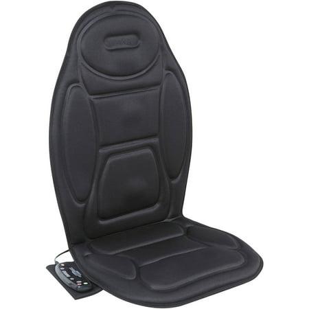 Motor Heated Massage Mat - Relaxzen 60-2926XP Massage Seat Cushion, Black