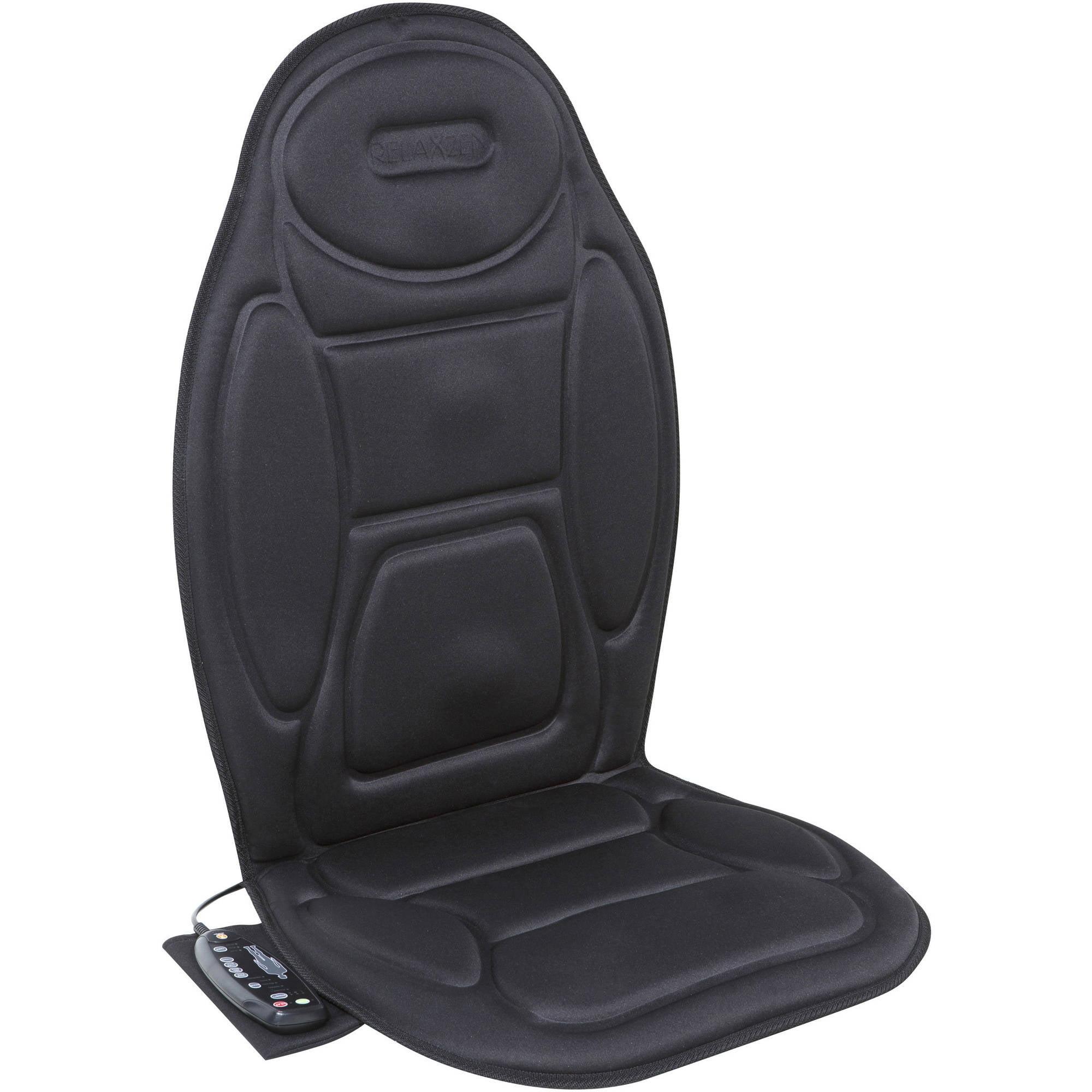 Relaxzen 60-2926XP Massage Seat Cushion, Black