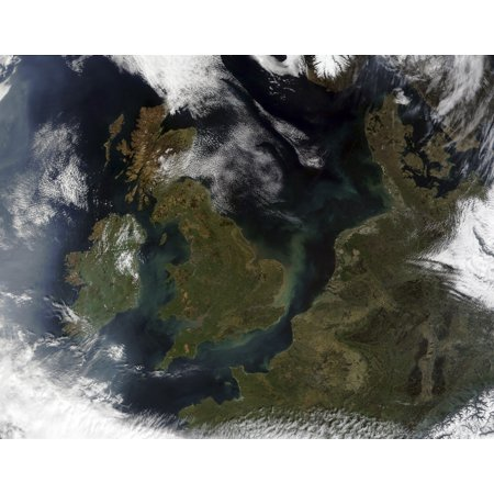 Satellite view of Northern Europe Poster Print