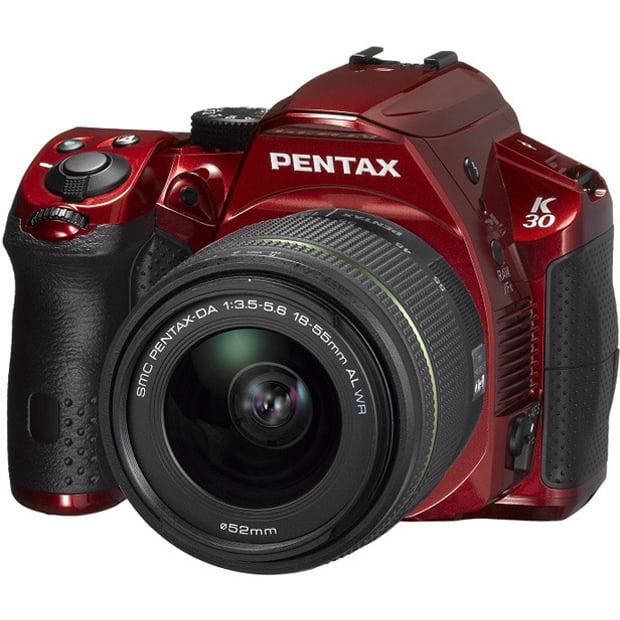 Pentax K-30 16.3MP Weatherproof D-SLR Camera with 18-55mm AL Lens (Black/Red)