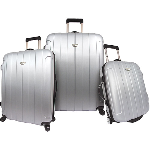 Traveler's Choice Rome 3 Piece Hardsided Set Silver