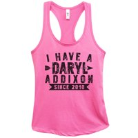 "Womens Basic Tank Top ""I Have a Daryl Dixon Addixon Since Since 2010"" Walking Dead Shirt Large, Fuchsia"