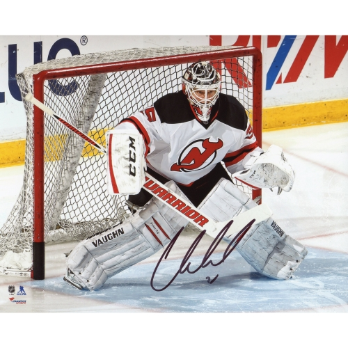 "Cory Schneider New Jersey Devils Fanatics Authentic Autographed 8"" x 10"" White Jersey In Net Photograph - No Size"
