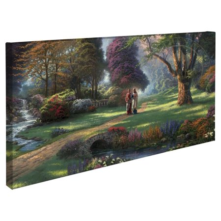 "Thomas Kinkade Walk of Faith ? 16"" x 31"" Gallery Wrapped Canvas"