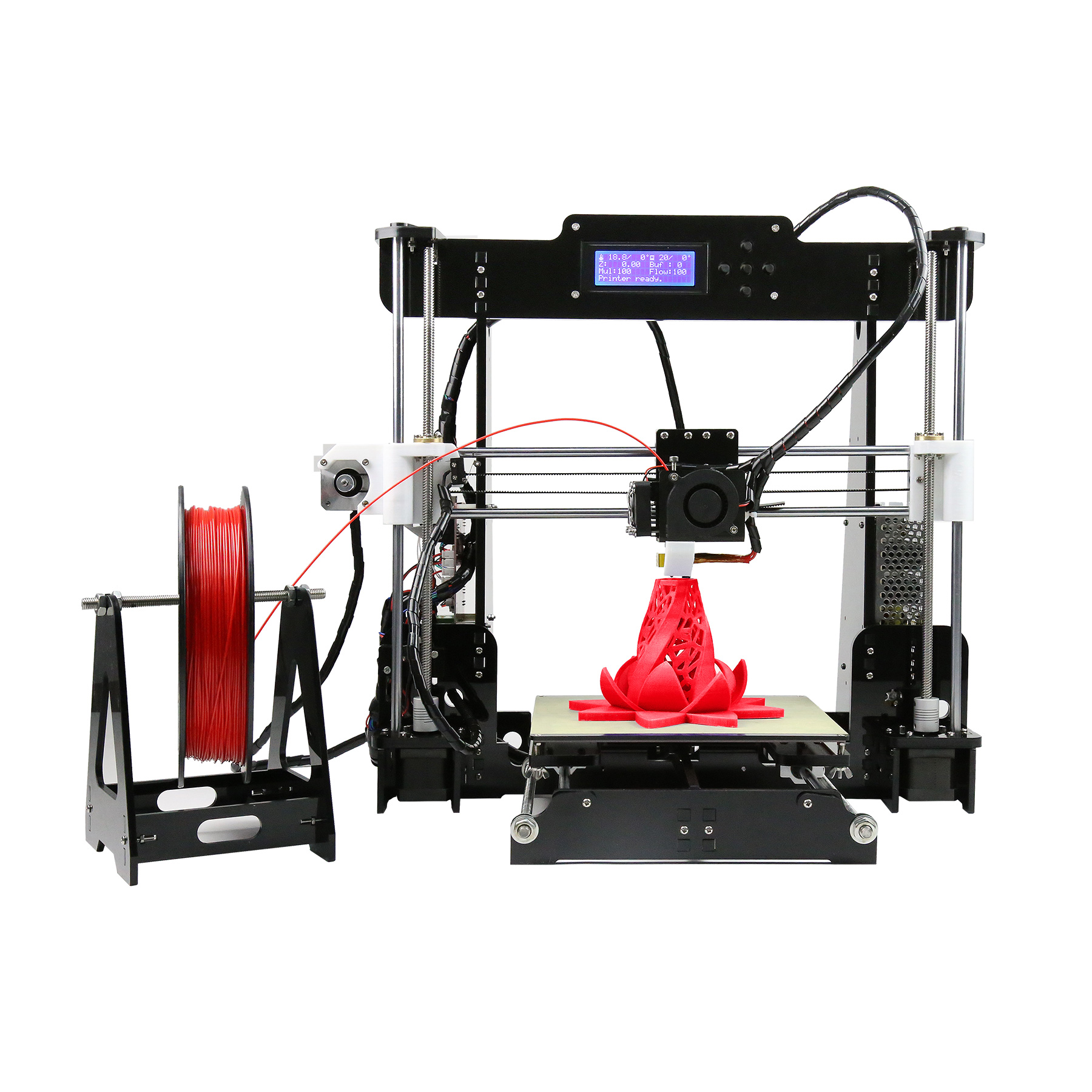 Orion Motor Tech Upgraded Desktop 3D PRINTER with All Metal MK8 Extruder
