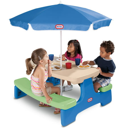 Little Tikes Easy Store Picnic Table with Umbrella Only $39.47
