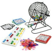 Jumbo Bingo Set - 9-Inch Metal Cage with Calling Board