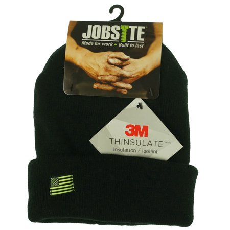 Jobsite Men's Solid Cuffed Beanie with 3M Thinsulate Insulation