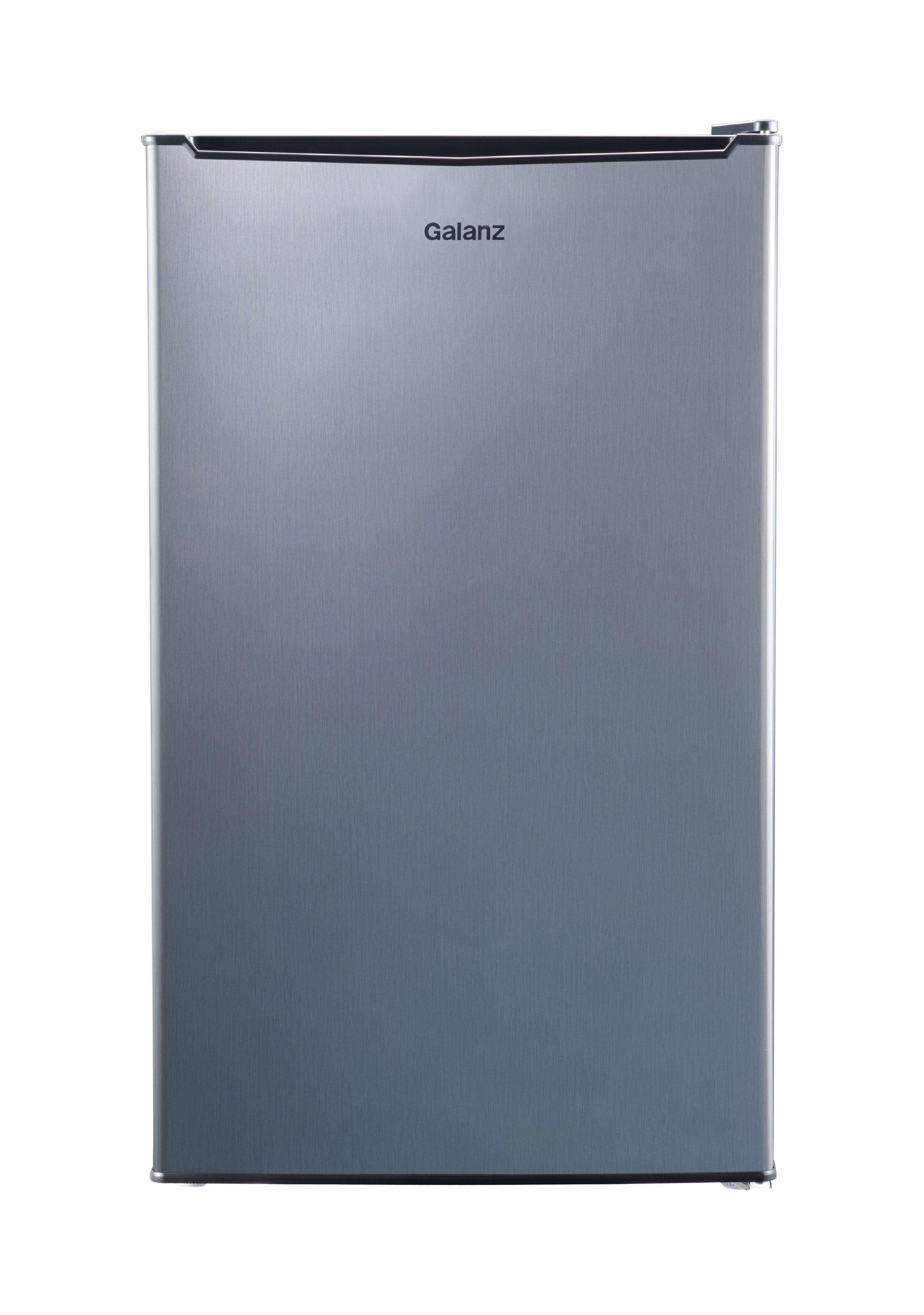 Galanz 3.5 Cu Ft Single Door Mini Fridge GL35S5, Stainless