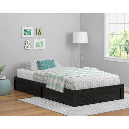 Ameriwood Home Platform Bed Black Oak Twin Walmart Com