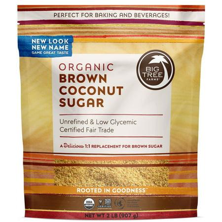 Big Tree Farms Organic Brown Coconut Sugar, Non-GMO, Gluten Free, Vegan, Fair Trade, Natural Sweetener, 2 Pound (Packaging May Vary)