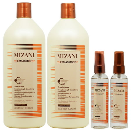 Mizani Thermasmooth Thermal Straightening System 4-piece (Shampoo, Conditioner 1L, Smooth Guard and Shine Extend)