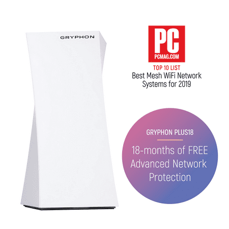 GRYPHON Plus18 Adv. Security & Parental Control AC3000 Tri-Band Mesh WiFi Router w/APP (up to 3000sqft) Hack Protection w/ AI-Intrusion Detection & ESET (Orbi Ac3000 High Performance Tri Band Wifi System)