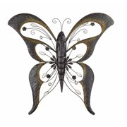 Bay Accents Wrought Iron Butterfly Wall D cor