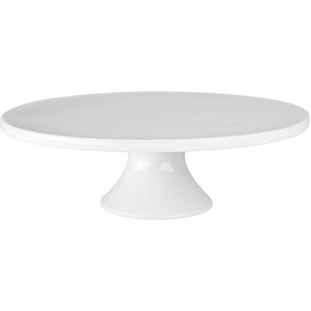 12-Inch by 3-3/4-Inch Porcelain Round Cake Stand, White, Porcelain is strong and durable By BIA Cordon Bleu