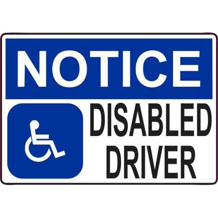 5x3.5 Disabled Driver Magnet Magnetic Door Sign Magnets Handicap Car Door