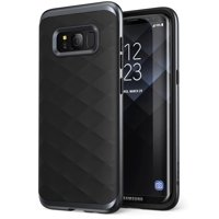 Samsung Galaxy S8+ Plus Case, Clayco [Helios Series] Premium Hybrid Protective Case for Samsung Galaxy S8+ (Black)