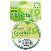"BeadSmith Flex-Rite Beading Wire, 49 Strand .018"" Thick, 30 Foot Spool, Clear"