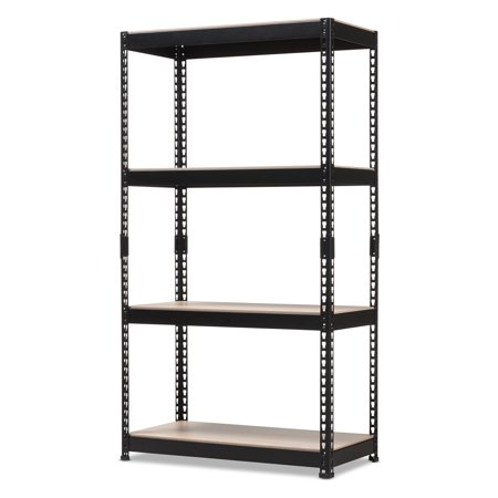 Baxton Studio Cody Metal 4-Shelf Multipurpose Shelving