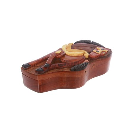 Handcrafted Wooden Horse Shape Secret Jewelry Puzzle Box -Horse
