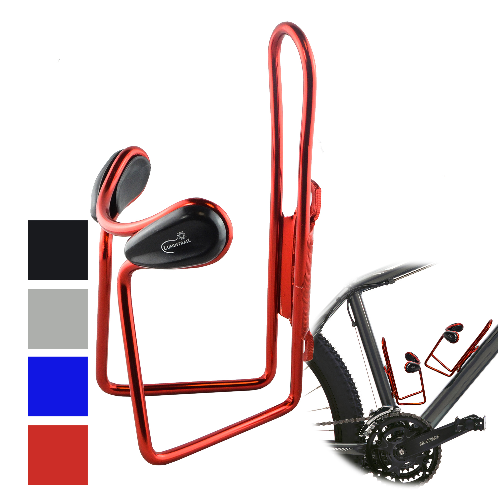 Lumintrail Lightweight Aluminum Alloy Bicycle Bike Water Bottle Cage Holder - 4 Color Available
