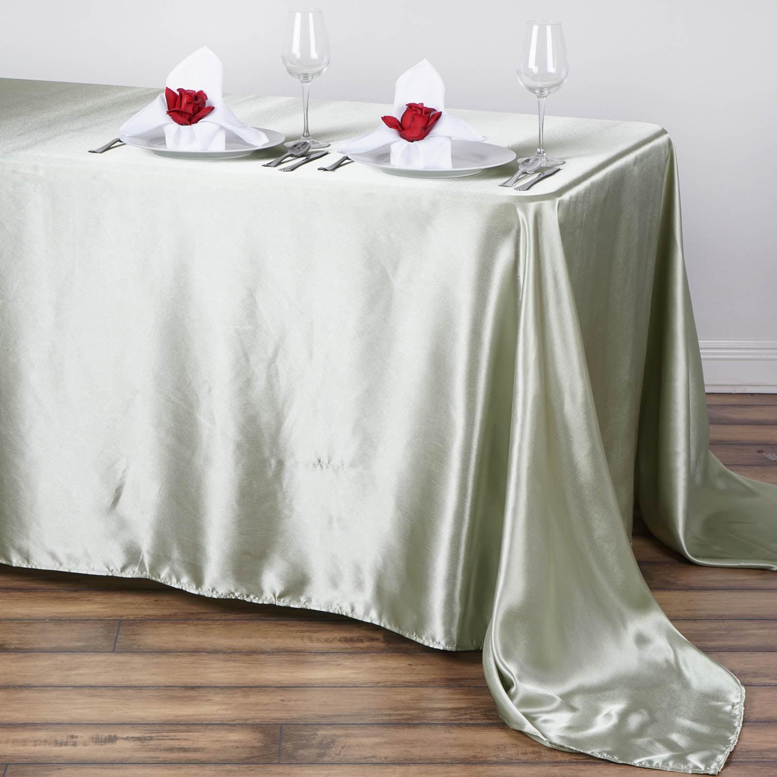 "BalsaCircle 90"" x 132"" Rectangular Satin Tablecloth Table Covers for Party... by BalsaCircle"