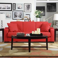Sarita Tuff Stuff Storage Arm Convert-a-Couch Sofa Sleeper Bed (Red)