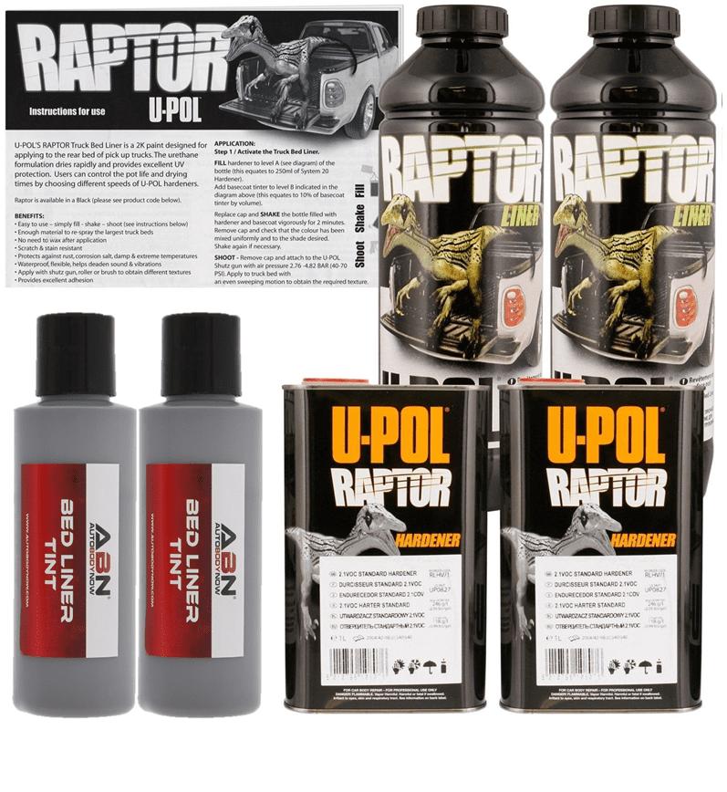U-POL Raptor Tintable Mesa Gray Bed Liner & Texture Coating, 2L Upol