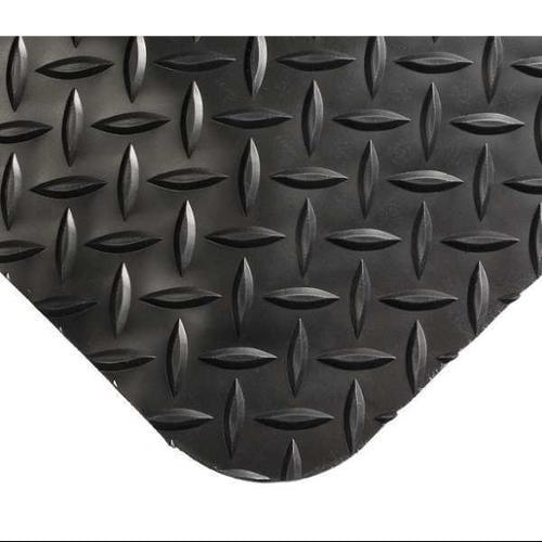 WEARWELL 415 Antifatigue Mat, 4 x 6 ft., Black