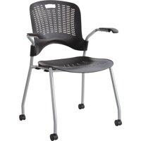 Safco, SAF4183BL, Sassy Stack Chairs, 2 / Carton, Black