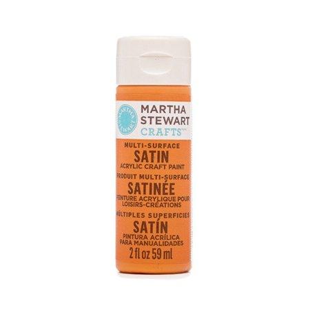 Martha Stewart Crafts Multi-Surface Satin Acrylic Paint: Pumpkin, 2 Oz
