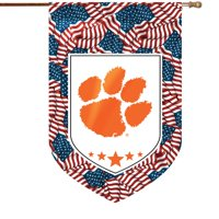 Clemson Tigers Patriotic House Flag