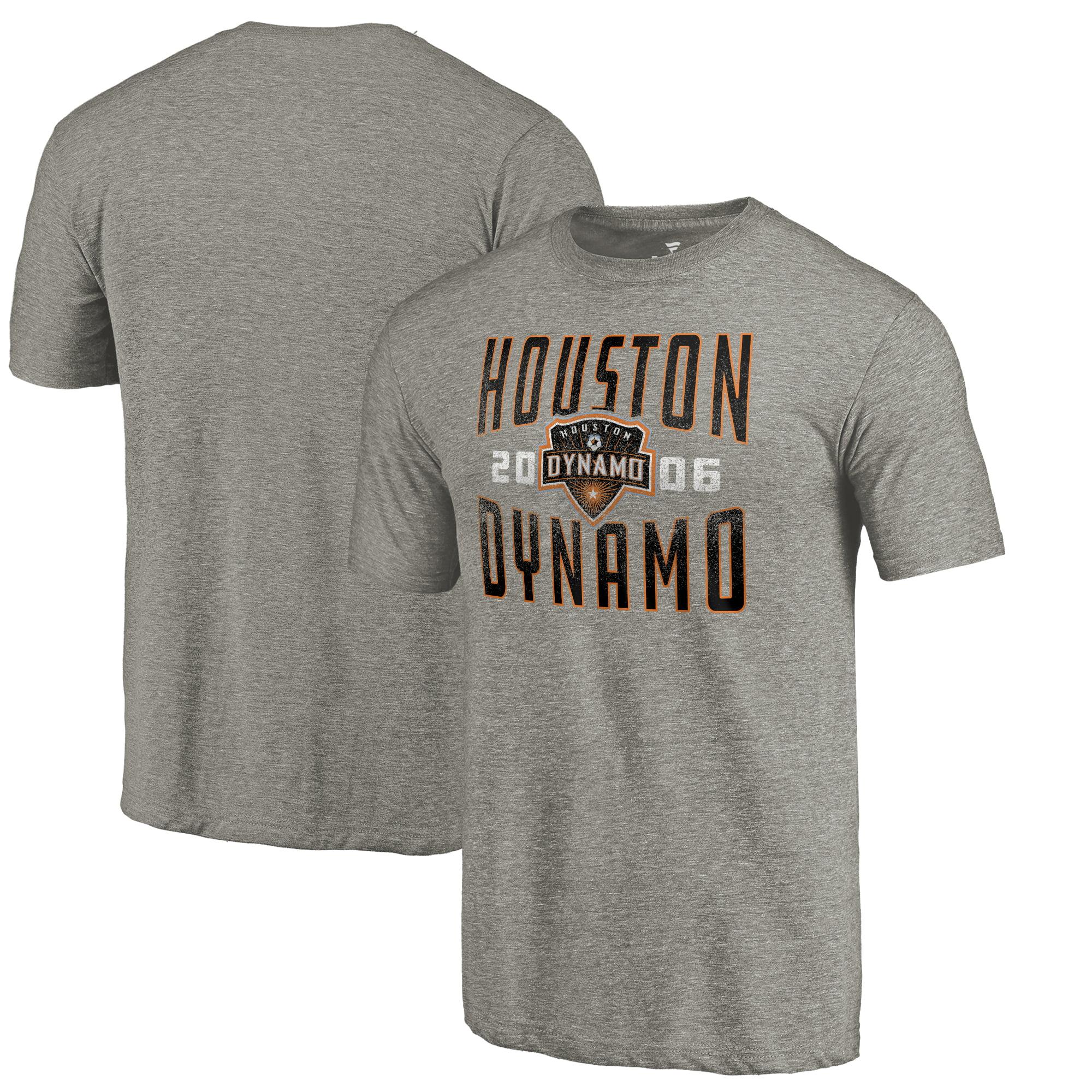 Houston Dynamo Fanatics Branded Antique Stack Tri-Blend T-Shirt - Gray