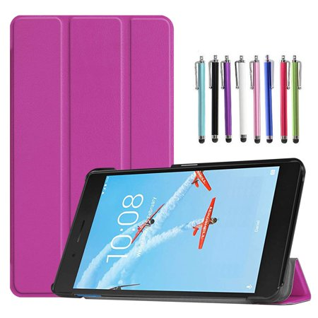 Epicgadget Case for Lenovo Tab E8 (TB-8304F), Slim Lightweight Tri fold Stand Cover Case for Lenovo Tablet 2018 Tab E 8 8 Inch Display (Purple) ()