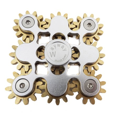 Wayway 9 Bearing Gears Silver Linkage Fidget Hand Spinner 360  Edc Metal Stainless Stress Reducer Adhd Focus Anxiety Relief Toys