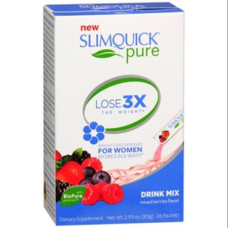 SLIMQUICK ULTRA Fat Burner Packets Petits fruits 26 Chaque (pack de 2)