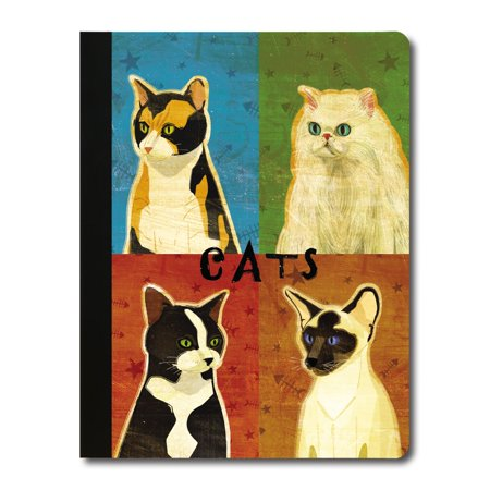 Tree-Free Greetings Cat Pop Art Soft Cover-140 Page Eco Composition College Ruled Book-CJ48466