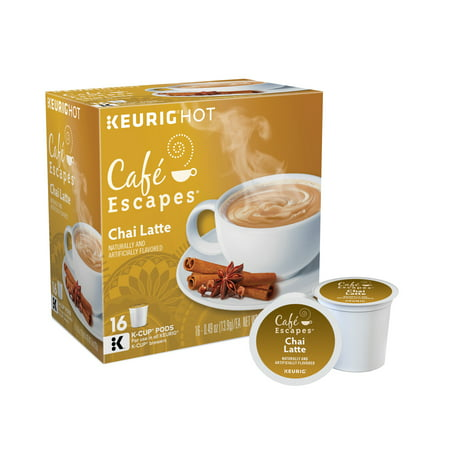 Keurig K-Cups, Cafe Escape Chai Latte, 16ct