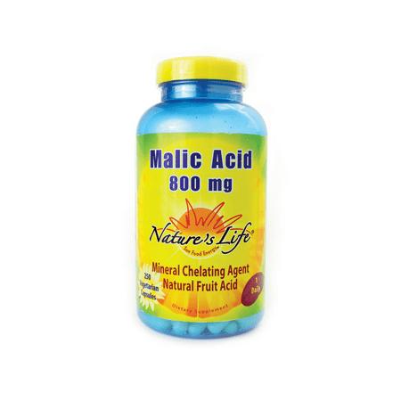 Nature's Life - Malic Acid 800 mg. - 250 Vegetarian Capsules