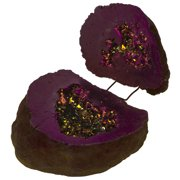 Koyal Wholesale Purple Crystal Geode Round Ring Box, for Proposal, Engagement, Keepsake, Agate, Quartz