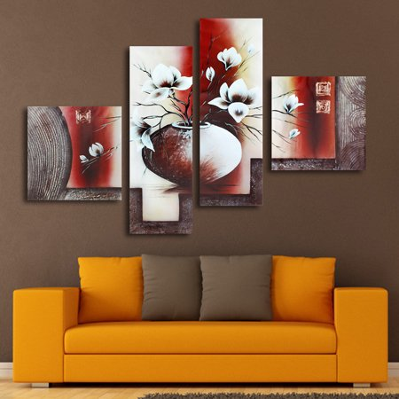 4 5 Pcs Frameless Canvas Prints Pictures Morden Abstract Paintings Wall Art Home Decor