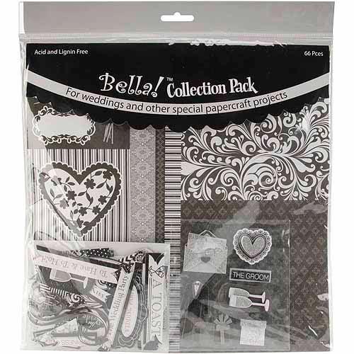 "Bella! Wedding Collection Pack 12""X12""-Black"