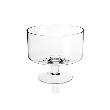"Lexington Mouth Blown Glass Trifle Bowl D9 x H7.5"""