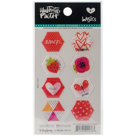 Illustrated Faith Basics He x ies Epoxy Stickers - Apple Of My - Epoxy Stickers