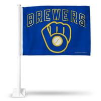 Milwaukee Brewers Car Flag - Royal