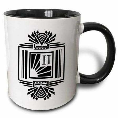 Symple Stuff Hudson Oaks Monogram Letter on Art Deco Initial Coffee Mug (Cheap Monogram Stuff)