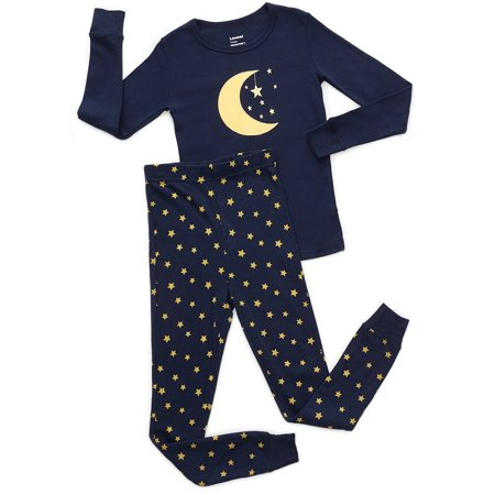 Leveret Moon & Stars 2 Piece Pajama Set 100% Cotton 12-18 Months 2 Piece Stars Pajama Set